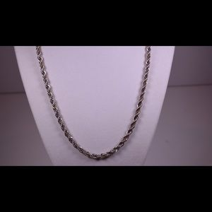 Exquisite Sterling and 14kt Gold Rope Chain Set